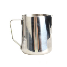 HKS 600ml Stainless Steel Kitchen Home Handle Coffee Garland Cup Latte Jug (Intl)