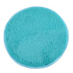 HKS 82cm Fluffy Round Foam Rug Non Slip Shower Mat Floor Carpet Blue (Intl)