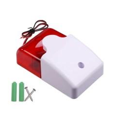 HKS Mini 12V Wired Sound Alarm Strobe Flashing Light Siren Home Security System (Intl)