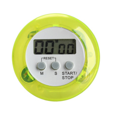 HKS Round Magnetic LCD Digital Kitchen Countdown Timer Alarm with Stand Green (Intl)