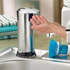 HKS Stainless Steel Automatic Sensor Infrared Handfree Sanitizer Soap Dispenser (Intl)