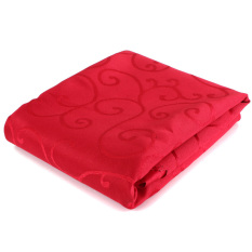 HL 1.6 M / 63 Inches Round Table Cover Tablecloths Protector (Red)