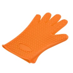HL Allwin Kitchen Heat Resistant Silicone Glove Oven Pot Holder Bakingbbq Cooking Tool Orange