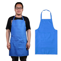 HL Kitchen Cooker Chefs Apron Pinafore Front Pocket Oilproof Homebaking Blue