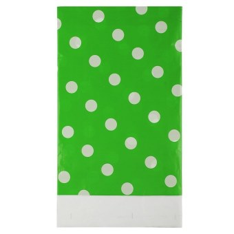 HL Multicolor Dots Pe Catoon Table Cover For Birthday Weddingdecoration Large Size Green