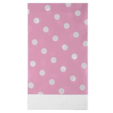 HL Multicolor Dots Pe Catoon Table Cover For Birthday Weddingdecoration Large Size Pink