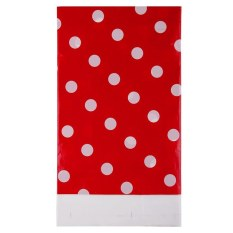 HL Multicolor Dots Pe Catoon Table Cover For Birthday Weddingdecoration Large Size Red