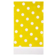 HL Multicolor Dots Pe Catoon Table Cover For Birthday Weddingdecoration Large Size Yellow