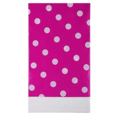 HL Multicolor Dots Pe Catoon Table Cover For Birthdayweddingdecoration Large Size Rose Red