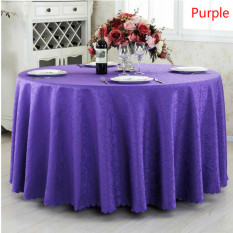 HL Round Table Cover Glass Tea Table Mats Tablecloth For Homedecoration 200 CM (Purple)