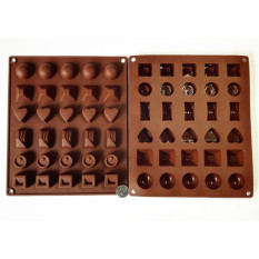 HL Silicone Gel Non-Stick Chocolate Jelly Candy Mold Cakebakinggeometrical Shape, Number, Letter Keys, Animal-Shapedmold (Geometrical Shape) U2026 - Intl