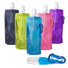 HOLYWINGS - VAPUR Botol Minum Lipat / Botol Air Minum Lipat / Tempat Air Minum Lipat Warna Warni @ ORANGE