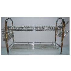Home Line Rak Piring Minimalis Modern Stainless Steel Model Pintu - Silver