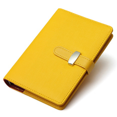 Identity Dairy Personal Planner Organiser Leather Hook Note Book Filofax Gift Yellow (Intl)