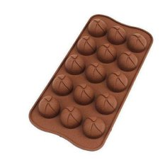 ILife 15-Hole Ball Shape Silicone Cake Mold Chocolate Cupcake Mould Fondant Ice Cube Kitchen Accessories Baking Tools Brown