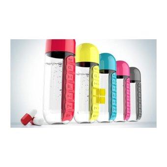 ... Harga 2 in 1 Daily Pill Box Organizer Water Bottle yellow intl