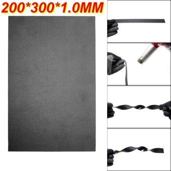 2Pcs 200 X 300 X 1.0MM Black T Sheet Thermoplastic Acrylic Polyvinyl Chloride Plate - intl