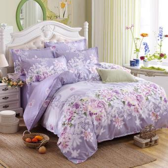 Bedding Set 5 Size Green Spirit Bedding Set Duvet Cover Set Korean Bed Sheet Duvet Cover Pillowcase Pink Bed Cover Bed Linen (001) - intl