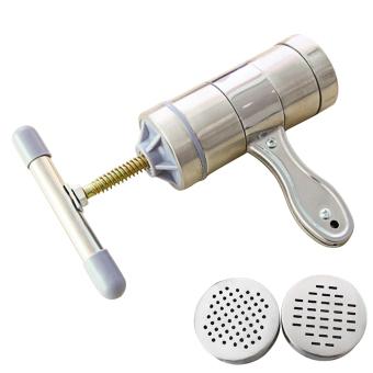 Harga Rumah dari baja anti karat mesin pembuat mie Manual dengan tangan tekan Pasta 2 cetakan