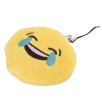 Emoji Emoticon Soft Stuffed Plush Yellow Toy Keychain Laugh to Tears Style