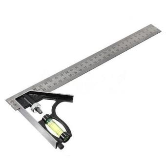 Adjustable 300mm Engineers Combination Square Set Right Angle Guide - intl