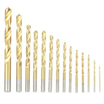 99pcs/set Titanium Coated High Speed Steel Twist Drill Bits Tool Set Metric System 1.5mm-10mm - intl