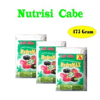 Harga Hydromax Nutrisi AB Mix 475 Gram Varian Cabe/Paprika