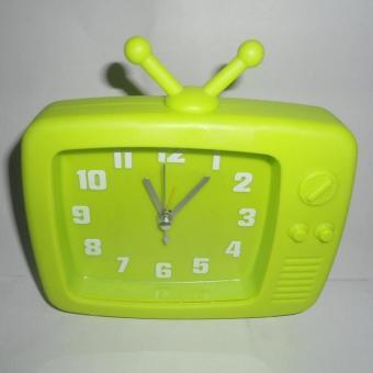 Tantan - Jam Alarm Model Televisi Antena hijau