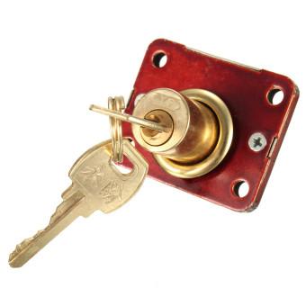 Home Drawer Dead Bolt Lock For Drawers Box Cabinet Cupboards Locker w/Two Keys