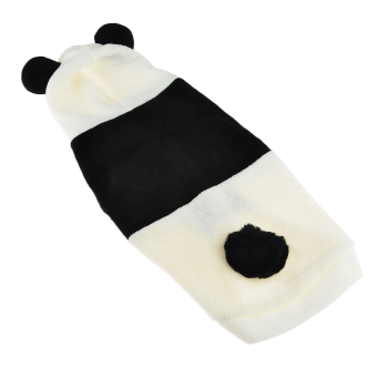 360DSC Polar Fleece Panda Dress Up Costume Pet Puppy Dog Cat Hoodie Coat Apparel Clothes - L (Intl)
