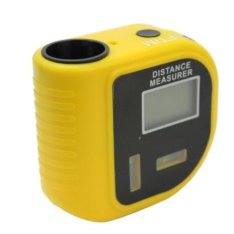 Durable Yellow Plastic Shell Ultrasonic Distance MeasureRangefinders Hot Sale - intl