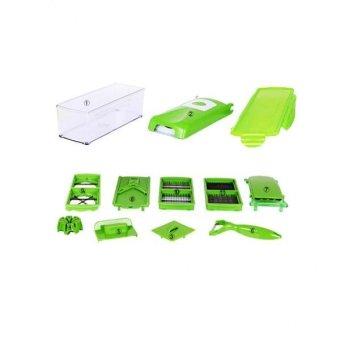 BolehDeals Fruit Vegetable DIY Nicer Dicer Slicer Plus Peeler Cutter Chopper Container - intl