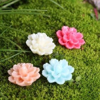 10PCS Garden Moss Landscape Miniature Fairy Plastic Moss Flower Home Decor Craft 0.5cm - intl