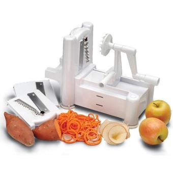 Universal Spiral Vegetable Slicer Machine / Mesin Pengupas Spiral Sayuran - White