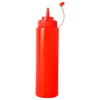 BolehDeals Plastic Squeeze Bottle Ketchup Mustard Sauce Vinegar Dispenser Red 240ml - intl