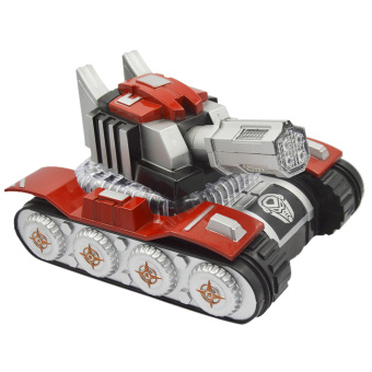 Electric Toy Military Tank Car Model with Light Flash Simulate Sound Birthday Holiday Toys Gift for Children Kids Boys Red