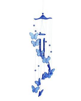 ooplm Handmade Butterfly Mobile Wind Chime Bell Aeolian Bells Garden Ornament Lucky Gift,Blue