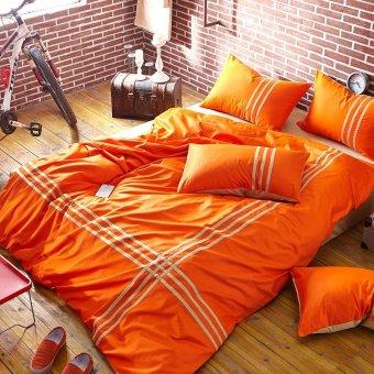 Occidental Af Minimalist 100% Pure Cotton Sport 4 Piece Bedding ,E,4 Ft,BeddingClothes - intl