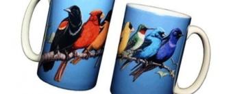 Song Bird Spectrum 330ml Ceramic Coffee Mug or Tea Cup - intl