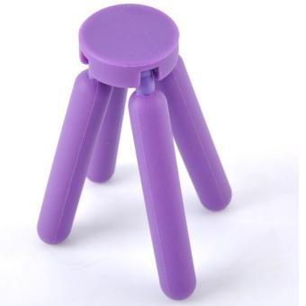 Cross Folding Silicone Pot Pad Placemat / Silikon Tatakan Panci - Purple