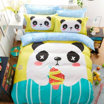Cartoon beding set bedding set twin queen king luxury duvet cover set - intl