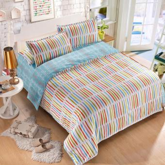 Polyester With Cotton 4pcs/set Bed Linings Bedclothes Bedsheet Home Textile Bedding Set 3Size