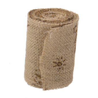 BolehDeals 3M Hessian Burlap Wire Edge Ribbon for Christmas Craft Decor 9.5cm