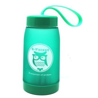 Botol Minum Cute Owl BPA Free dengan Saringan Teh 320ml - Green