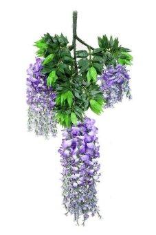 10PCS Silk Flower Artificial Flower Wisteria Vine Rattan For Valentine's Day Home Garden Hotel Wedding Decoration(Purple)