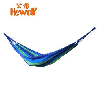 2016 110-230 kg Load-bearing Outdoor Garden Hammock Hang Bed Travel Camping Swing Survival Outdoor Sleeping H-1127-blue