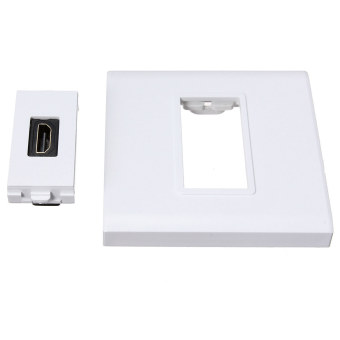 White HDMI Female 1 Port Wall Plate Socket Panel Coupler Extender For 1080p HDTV