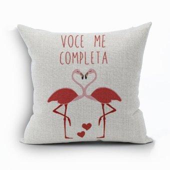Yazilind Red crane LOVE pattern decorative pillowcase room sofa home 45*45CM/17.55*17.55 inch