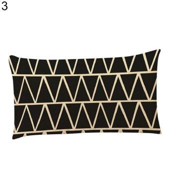 Broadfashion Fashion Geometric Patterns Pillow Case Soft Cushion Cover Home Sofa Decoration (#3) - intl