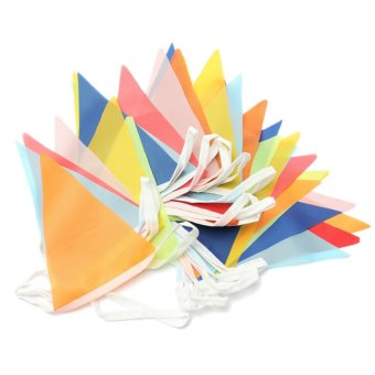S & F Bunting Flags Banner for Party 10M (Multicolor)
